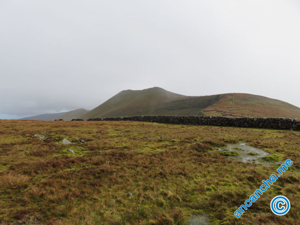 Galtymore wall and first view of Galtymore